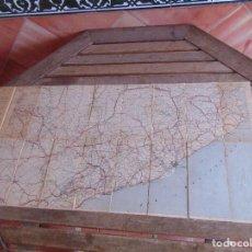 Mapas contemporáneos - MAPA DE GUIA MICHELIN ESPAÑA ENTELADA BARCELONA TELA AÑOS 20 30 - 74191611