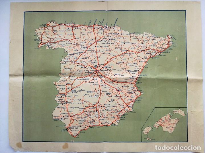Antiguo Mapa De Carreteras De Espana Sold Through Direct Sale