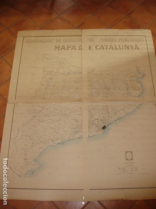 GIGANTE MAPA DE LES OBRES PUBLIQUES DE CATALUNYA 1936. GENERALITAT DE CATALUNYA. (Coleccionismo - Mapas - Mapas actuales (desde siglo XIX))