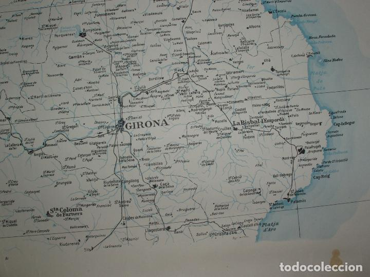 Mapas contemporáneos: GIGANTE MAPA DE LES OBRES PUBLIQUES DE CATALUNYA 1936. GENERALITAT DE CATALUNYA. - Foto 2 - 74726327