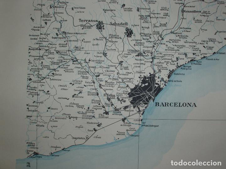 Mapas contemporáneos: GIGANTE MAPA DE LES OBRES PUBLIQUES DE CATALUNYA 1936. GENERALITAT DE CATALUNYA. - Foto 3 - 74726327