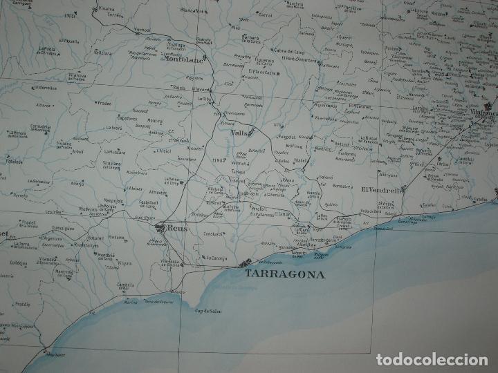 Mapas contemporáneos: GIGANTE MAPA DE LES OBRES PUBLIQUES DE CATALUNYA 1936. GENERALITAT DE CATALUNYA. - Foto 4 - 74726327