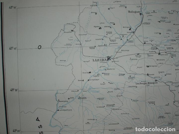 Mapas contemporáneos: GIGANTE MAPA DE LES OBRES PUBLIQUES DE CATALUNYA 1936. GENERALITAT DE CATALUNYA. - Foto 5 - 74726327