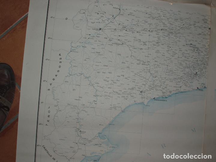 Mapas contemporáneos: GIGANTE MAPA DE LES OBRES PUBLIQUES DE CATALUNYA 1936. GENERALITAT DE CATALUNYA. - Foto 6 - 74726327