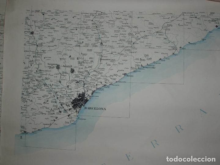 Mapas contemporáneos: GIGANTE MAPA DE LES OBRES PUBLIQUES DE CATALUNYA 1936. GENERALITAT DE CATALUNYA. - Foto 9 - 74726327