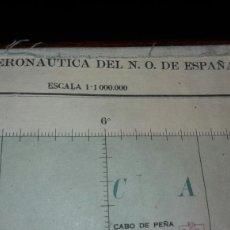 Mapas contemporáneos: ANTIGUO MAPA CARTA AERONAUTICA DEL N.O. DE ESPAÑA AÑO 1951 TELA Y PAPEL AVIACION AVION AIRE. Lote 75130422