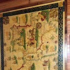 Mapas contemporáneos: CARTA NAVEGACION ESPAÑA Y NORTE AFRICA 1613 - ESTAMPADA SOBRE TELA ENMARCADA 1220X930 CM.. Lote 75161427