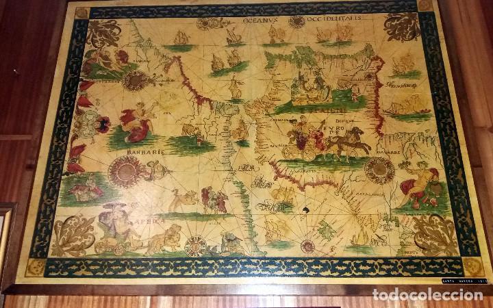 Mapas contemporáneos: CARTA NAVEGACION ESPAÑA Y NORTE AFRICA 1613 - estampada sobre TELA ENMARCADA 1220X930 CM. - Foto 2 - 75161427
