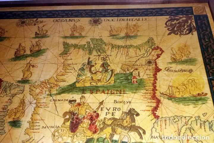 Mapas contemporáneos: CARTA NAVEGACION ESPAÑA Y NORTE AFRICA 1613 - estampada sobre TELA ENMARCADA 1220X930 CM. - Foto 5 - 75161427