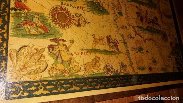 Mapas contemporáneos: CARTA NAVEGACION ESPAÑA Y NORTE AFRICA 1613 - estampada sobre TELA ENMARCADA 1220X930 CM. - Foto 7 - 75161427