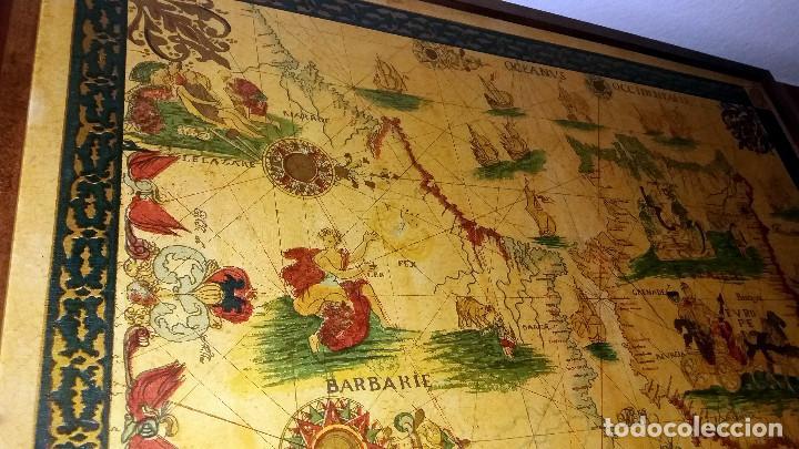 Mapas contemporáneos: CARTA NAVEGACION ESPAÑA Y NORTE AFRICA 1613 - estampada sobre TELA ENMARCADA 1220X930 CM. - Foto 8 - 75161427