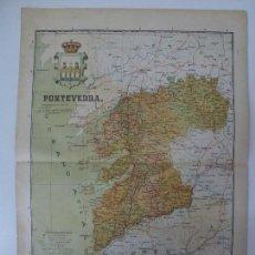 Mapas contemporáneos: MAPA DE LA PROVINCIA DE PONTEVEDRA.BENITO CHIAS. 50X37 CM.. Lote 75209143