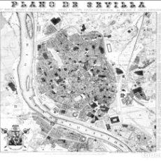 Mapas contemporâneos: PLANO LITOGRAFIA DE - CIUDAD DE SEVILLA - 1868. PLANO DE MANUEL ÁLVAREZ-BENAVIDES Y LÓPEZ.. Lote 75683107