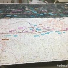 Mapas contemporáneos: 2 MAPAS DE LA CONEXION CON FRANCIA DE LA NUEVA RED FERROVIARIA DEL PAIS VASCO - 2013. Lote 75959095