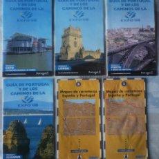 Mapas contemporáneos: LOTE DE GUIAS Y MAPAS DE CARRETERA DE PORTUGAL. Lote 76943761