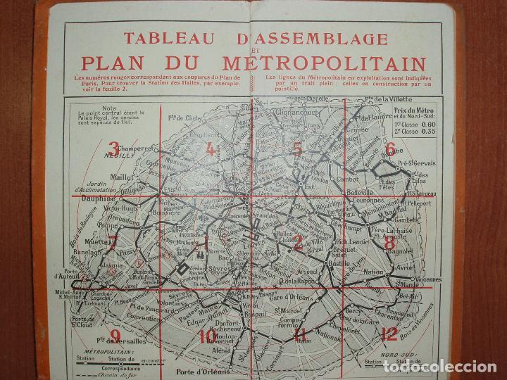 Mapas contemporáneos: PLAN DE PARIS EN 12 COUPURES. MUY COMPLETO, CALLEJERO, MAPAS, METRO, AUTUBUS, CURIOSIDADES.... - Foto 2 - 78343009