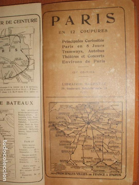 Mapas contemporáneos: PLAN DE PARIS EN 12 COUPURES. MUY COMPLETO, CALLEJERO, MAPAS, METRO, AUTUBUS, CURIOSIDADES.... - Foto 3 - 78343009