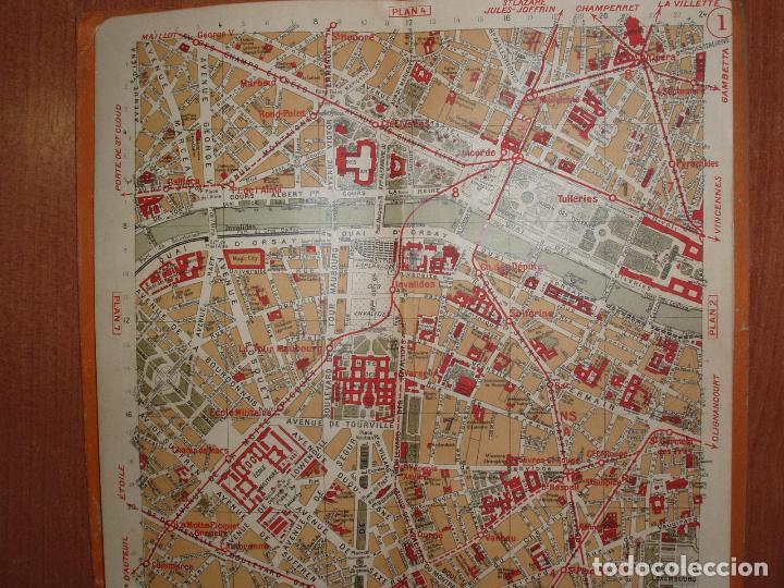 Mapas contemporáneos: PLAN DE PARIS EN 12 COUPURES. MUY COMPLETO, CALLEJERO, MAPAS, METRO, AUTUBUS, CURIOSIDADES.... - Foto 4 - 78343009