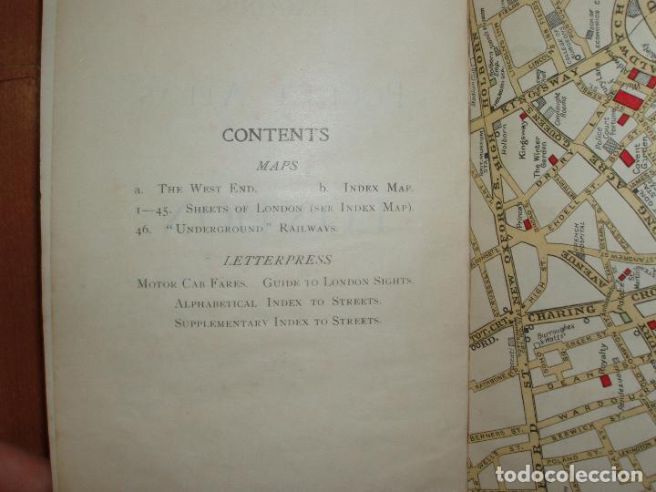 Mapas contemporáneos: ATLAS AND GUIDE TO LONDON. GUIA Y MAPA DE LONDRES. EDICION 1929. MUY COMPLETO. - Foto 2 - 78343977