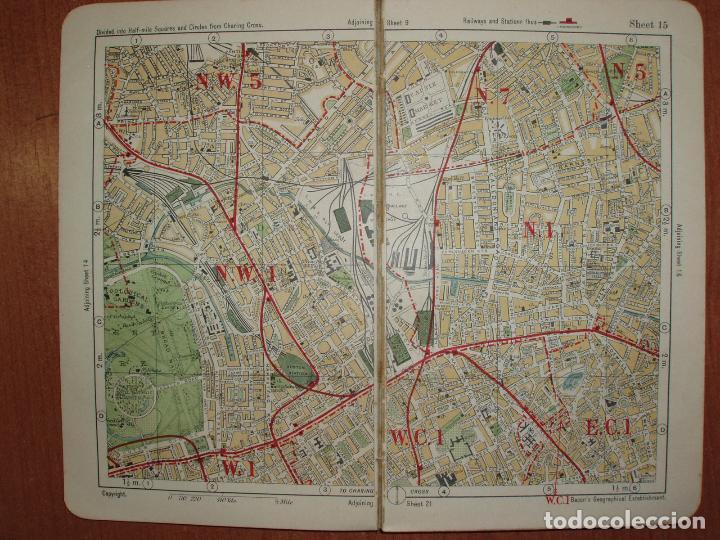 Mapas contemporáneos: ATLAS AND GUIDE TO LONDON. GUIA Y MAPA DE LONDRES. EDICION 1929. MUY COMPLETO. - Foto 3 - 78343977