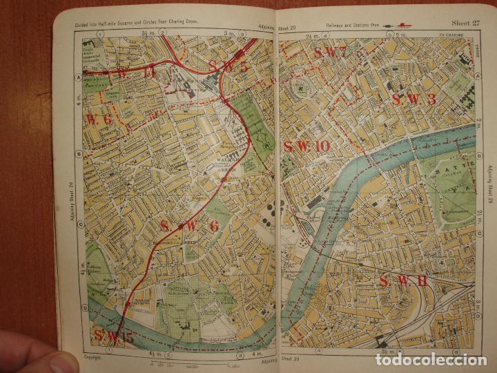 Mapas contemporáneos: ATLAS AND GUIDE TO LONDON. GUIA Y MAPA DE LONDRES. EDICION 1929. MUY COMPLETO. - Foto 4 - 78343977