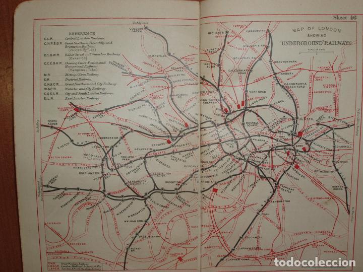 Mapas contemporáneos: ATLAS AND GUIDE TO LONDON. GUIA Y MAPA DE LONDRES. EDICION 1929. MUY COMPLETO. - Foto 5 - 78343977