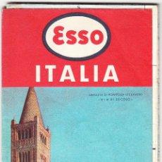 Mapas contemporáneos: MAPA ITALIA - ESSO STANDARD ITALIANA - 1958. Lote 78834797