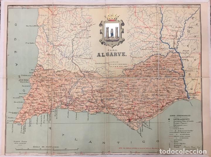 Portugal Mapa De La Provincia De Algarve Dist Buy Contemporary