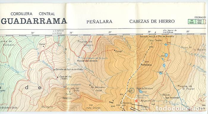 Cordillera Central Guadarrama Mapa Topografico Sold Through