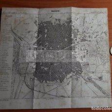 Mapas contemporáneos: PLANO DE MADRID DEL AÑO 1866 (20 X 15,5 CM). Lote 80515829