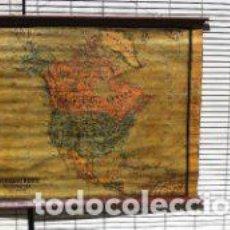 Mapas contemporáneos - MAPA AMERICA DEL NORTE, PAPEL SOBRE TELA, BASTIDOR DE MADERA. PRINCIPIOS DEL S.XX - 80887071