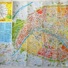Mapas contemporáneos: MAPA CALLEJERO DE LA CIUDAD DE PARIS Y METRO. Lote 81646672