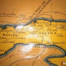 Mapas contemporáneos: MAPA HISTORICO DE CUBA AÑO 1637 HAVANA RUTA DE CRISTOBAL COLON.((((UNICO)))). Lote 107469406