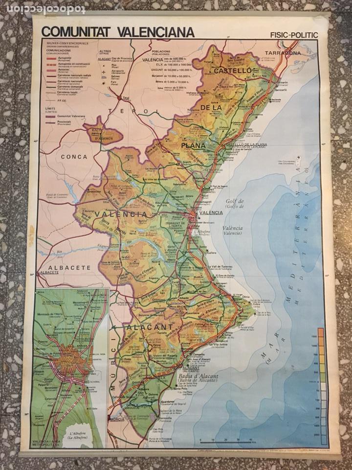 Mapa Fisico Comunitat Valenciana.Mapa Comunidad Valenciana De Colegio Economia Comprar Mapas Contemporaneos En Todocoleccion 82834402
