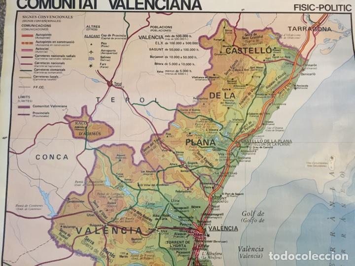 Mapa Rios Comunidad Valenciana.Mapa Comunidad Valenciana Fisico Mapa