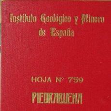Mapas contemporáneos: MAPA DEL INSTITUTO GEOLÓGICO Y MINERO DE ESPAÑA. HOJA Nº 759: PIEDRABUENA. 1:50.000. Lote 83664396