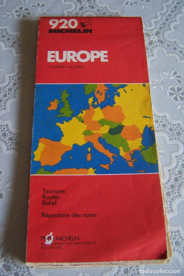 Mapa Carreteras Michelin 920 Europa Grandes Di Acquista Mappe
