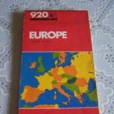 Mapas contemporáneos: MAPA CARRETERAS MICHELIN 920 EUROPA. GRANDES DIMENSIONES.. Lote 83948812