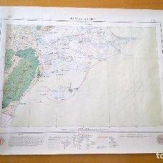 Mapas contemporâneos: LES GOLES DE L'EBRE E:1/100000 MARIÀ FAURA I SANS 1923 1ª ED. 2 MAPAS, GEOLÓGICO Y GEOGRÁFICO. Lote 84556436
