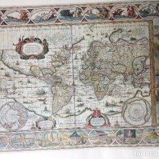Mapas contemporáneos: REPRODUCCIÓN -- MAPA MUNDI DE 1635. Lote 84910632
