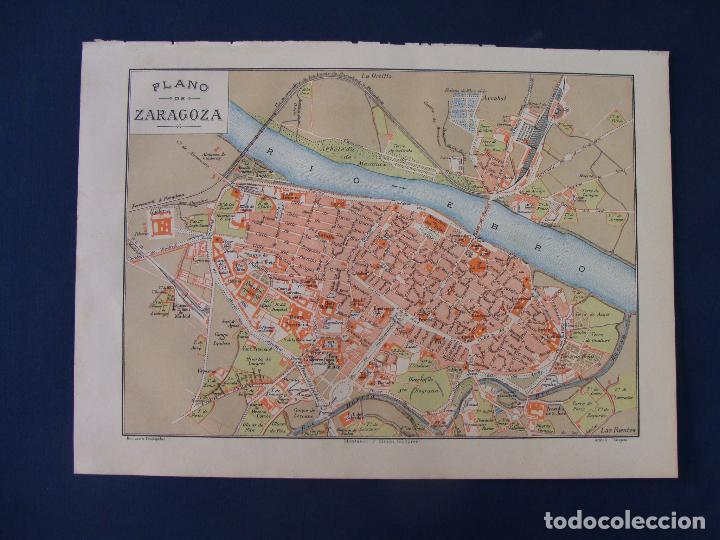 PLANO DE ZARAGOZA. 1898. CROMOLITOGRAFÍA DE MONTANER Y SIMÓN. 22X30 CM (Coleccionismo - Mapas - Mapas actuales (desde siglo XIX))