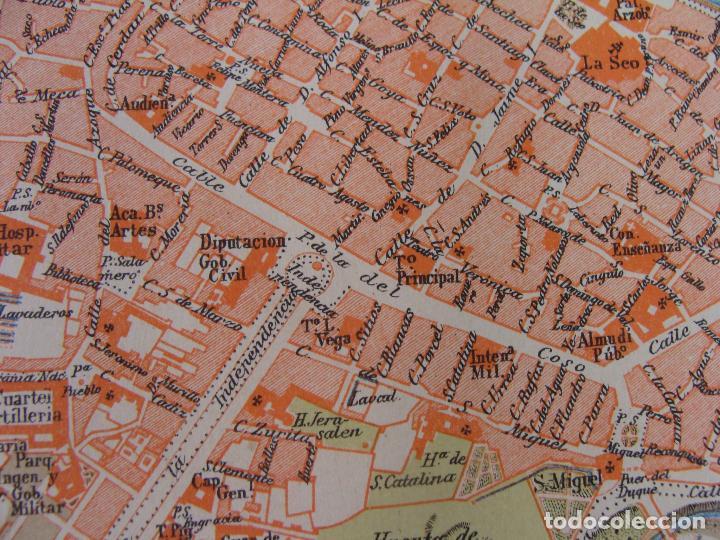 Mapas contemporáneos: PLANO DE ZARAGOZA. 1898. CROMOLITOGRAFÍA DE MONTANER Y SIMÓN. 22X30 CM - Foto 2 - 84963188