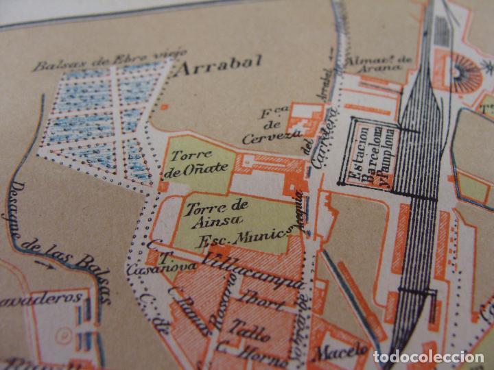 Mapas contemporáneos: PLANO DE ZARAGOZA. 1898. CROMOLITOGRAFÍA DE MONTANER Y SIMÓN. 22X30 CM - Foto 4 - 84963188