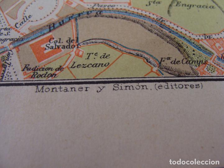 Mapas contemporáneos: PLANO DE ZARAGOZA. 1898. CROMOLITOGRAFÍA DE MONTANER Y SIMÓN. 22X30 CM - Foto 5 - 84963188