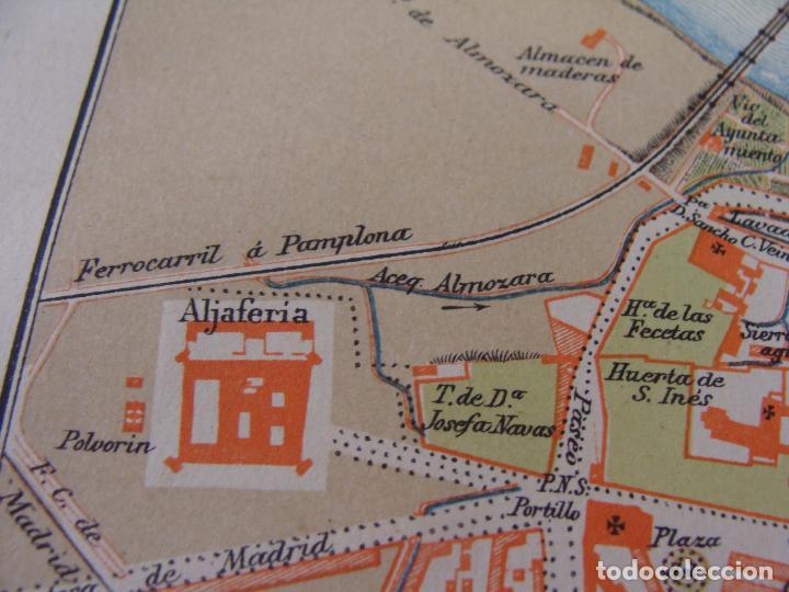 Mapas contemporáneos: PLANO DE ZARAGOZA. 1898. CROMOLITOGRAFÍA DE MONTANER Y SIMÓN. 22X30 CM - Foto 6 - 84963188