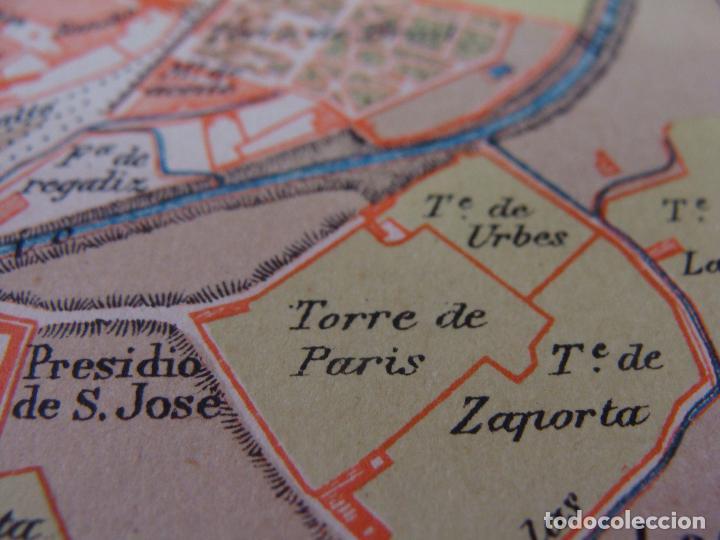 Mapas contemporáneos: PLANO DE ZARAGOZA. 1898. CROMOLITOGRAFÍA DE MONTANER Y SIMÓN. 22X30 CM - Foto 10 - 84963188