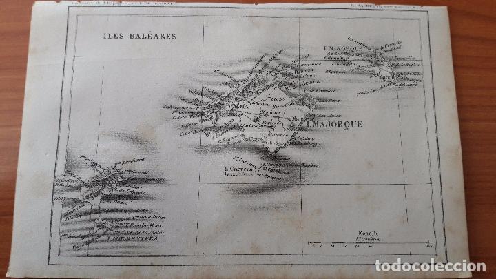 Mapas contemporáneos: MAPA DE LAS ISLAS BALEARES DEL AÑO 1866 ( MALLORCA, MENORCA, FORMENTERA, IBIZA ) - Foto 2 - 85498468