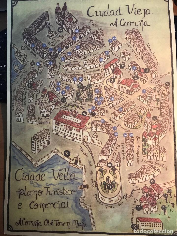 A Coruña Mapa Turistico.Ve15 Mapa De A Coruna Old Twon Map Ciudad Vieja Plano Turistico Comercial