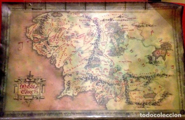 Autentico Mapa En Tela De La Tierra Media Sen Sold Through