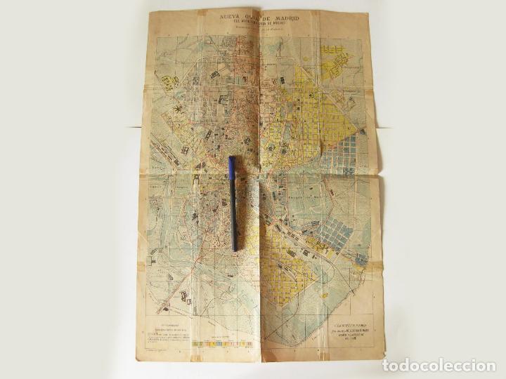 PLANO O MAPA. NUEVA GUIA DE MADRID PUBLICADA POR EL NOTICIERO DE MADRID FORMADO POR JOSE MENDEZ 1912 (Coleccionismo - Mapas - Mapas actuales (desde siglo XIX))